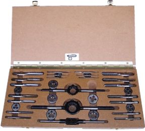 TAP AND DIE SET 1//4 TO 3//4 BRITISH STANDARD WHITWORTH BOXED COMPLETE BSW